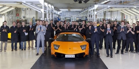 Lamborghini Murcielago rolls out for the last time