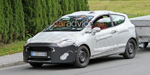 2017 Ford Fiesta three-door hatch spied