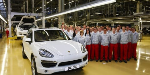 Porsche Cayenne production hits 100,000