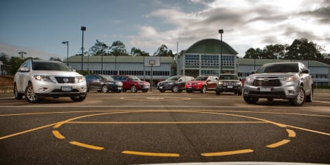 Family SUV Comparison : Toyota Kluger v Nissan Pathfinder v Jeep Grand Cherokee v Ford Territory v Holden Captiva 7 v Kia Sorento v Mazda CX-9