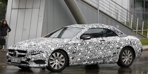 2015 Mercedes-Benz S-Class convertible : Ultra high-end soft-top spied ahead of forthcoming reveal