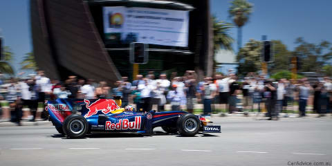 Formula 1 car on the streets of Perth