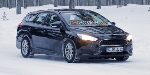 2018 Ford Focus wagon spied in the snow
