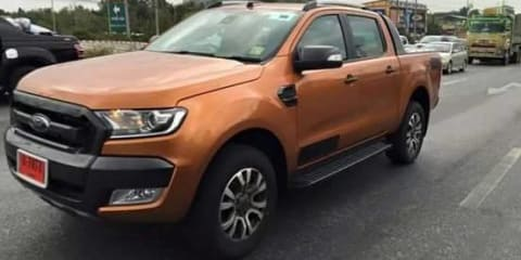 2015 Ford Ranger Wildtrak spotted undisguised