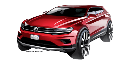 Volkswagen Tiguan Allspace seven-seater teased ahead of Detroit debut