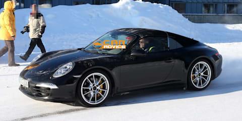 Porsche 911 Targa spied in Sweden