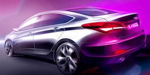 Hyundai i40 sedan teaser released