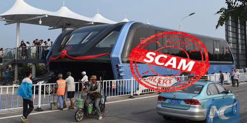 "Chinese media outlets slam Transit Elevated Bus ""scam"" - report"