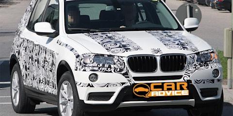 2011 BMW X3 SUV spy video