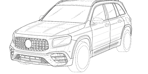 2021 Mercedes-AMG GLB 45 unearthed in patent filing