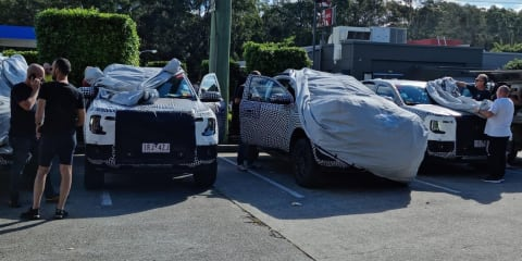 2022 Ford Ranger caught testing on NSW roads: Four prototypes stop for KFC