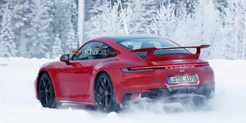 2020 Porsche 911 spied with Aero Package