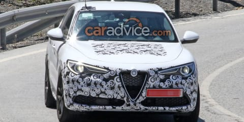 2020 Alfa Romeo Stelvio facelift spied inside and out