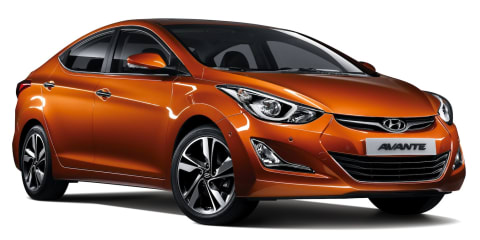 Hyundai Elantra: facelifted sedan unveiled in Korea