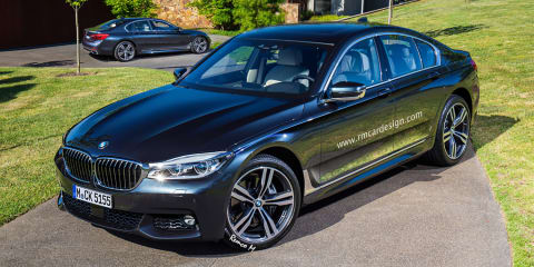 2017 BMW 5 Series sedan and Touring wagon rendered