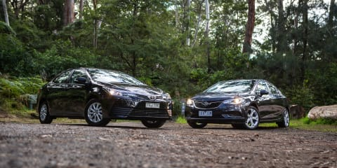 2017 Holden Astra LT sedan v 2017 Toyota Corolla Ascent sedan comparison