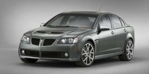 Holden Commodore not affected by 38,000-vehicle Pontiac G8 recall