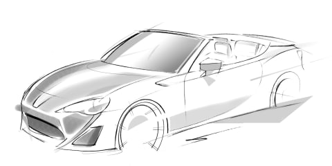 Toyota 86 convertible concept previews open-top variant