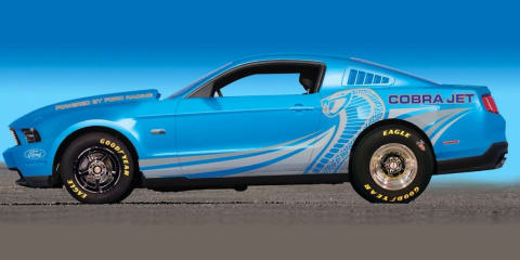 2012 Ford Mustang Cobra Jet and Mustang 302S race-ready track cars