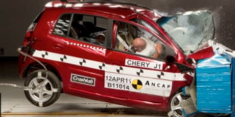 2011 Chery J1 scores three-star ANCAP safety rating