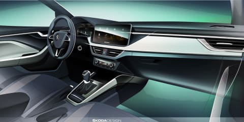 2019 Skoda Scala interior teased