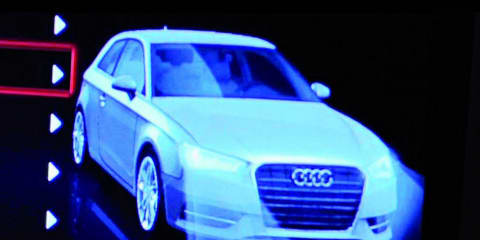 2013 Audi A3 interior unveiled, exterior revealed accidentally