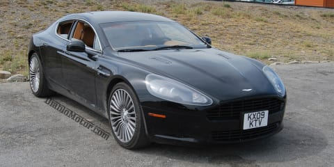 Aston Martin Rapide caught uncovered