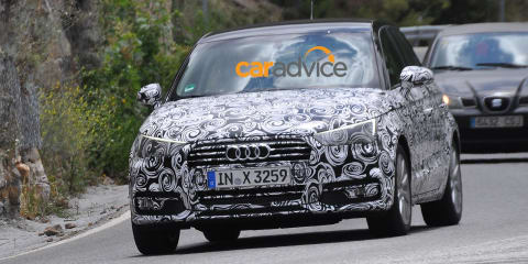 2015 Audi A1 : Facelifted model spied hot-weather testing