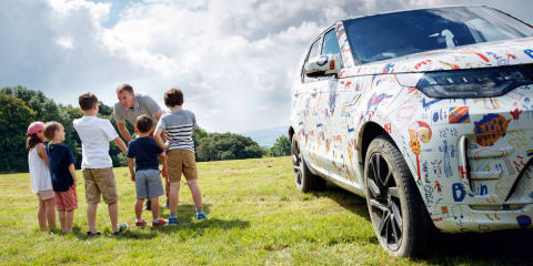2017 Land Rover Discovery gets wrapped in children's drawings