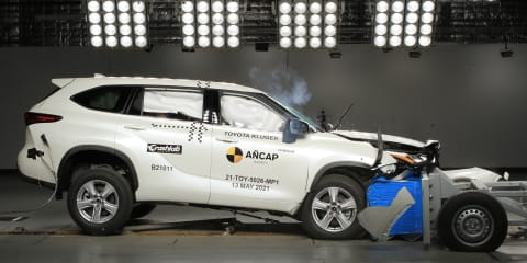 2021 Toyota Kluger is the third vehicle to earn five-star safety rating without centre airbagprotection