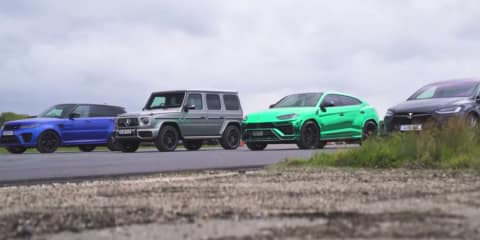 Model X, Urus, G63, SVR drag race - video