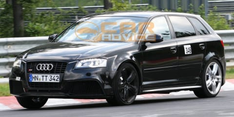 2011 Audi RS3 spied with possible air brake