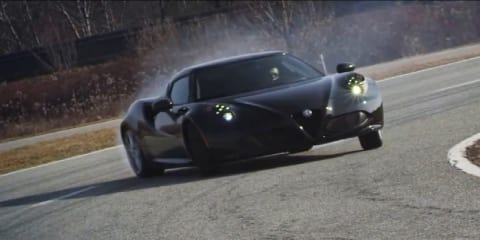 Alfa Romeo 4C tears up Italian test track