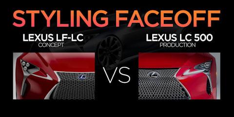Lexus LC500 vs Lexus LF-LC Concept:: Styling Faceoff