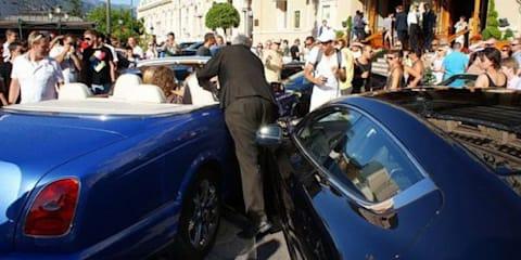 Blonde driving Bentley crashes into Ferrari, Aston Martin and Porsche in Monaco