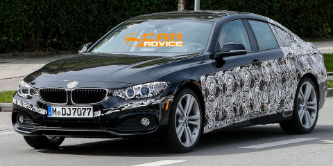 BMW 4 Series Gran Coupe: four-door coupe spied testing