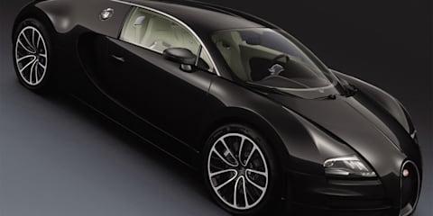 Bugatti Veyon Super Sport Black Carbon, Grand Sport White Matt Blue Carbon at Shanghai