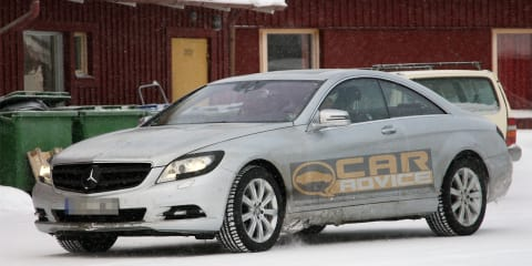 2011 Mercedes-Benz S-Class Coupe spy photos