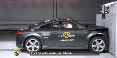 2015 Audi TT Coupe scores four stars in Euro NCAP crash testing; Renault, Opel vans manage three