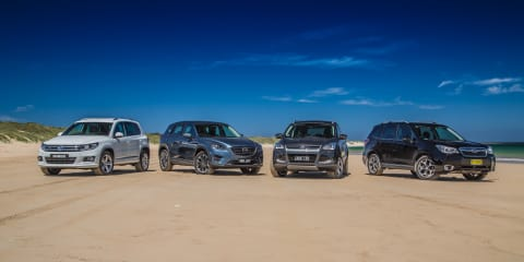 Medium SUV Comparison : Ford Kuga v Mazda CX-5 v Subaru Forester v Volkswagen Tiguan