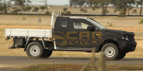 2012 Ford Ranger T6 Cab Chassis Spy Photos