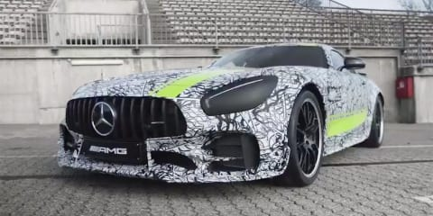 Mercedes-AMG GT R previewed on the track - video