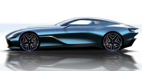 Aston Martin DBS GT Zagato sketched out