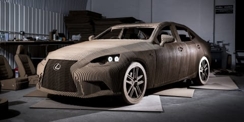 Lexus IS built from cardboard is a driveable piece of art