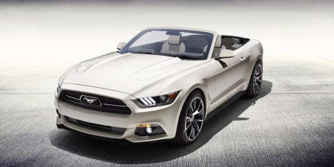 Ford Mustang 50th Anniversary Convertible one-off to be raffled for charity