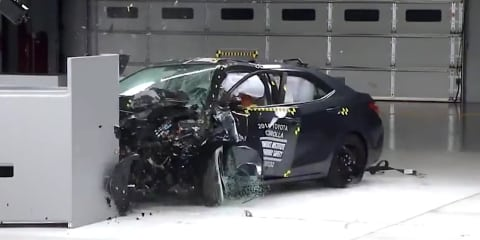 Toyota Corolla sedan struggles in IIHS crash test