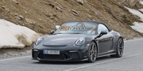 Porsche 911 Speedster snapped again