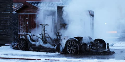 Tesla investigating Supercharger fire in Norway