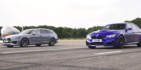 Audi RS4 v BMW M3 CS drag race - video