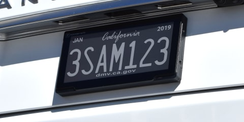 California begins digital number plate trial